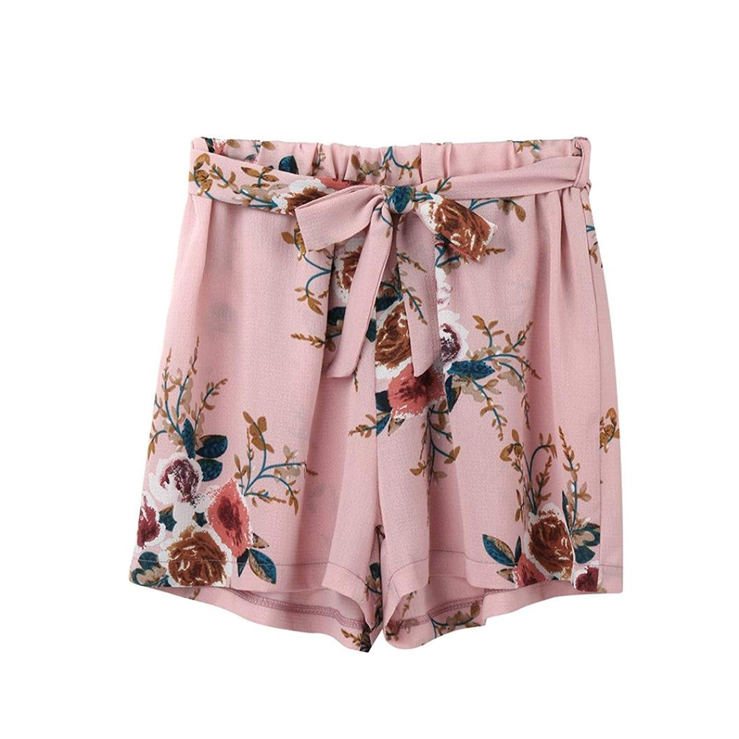 BCDshop Women Casual Teen Girl Summer Shorts Beach Short Trousers Floral Hot Pants