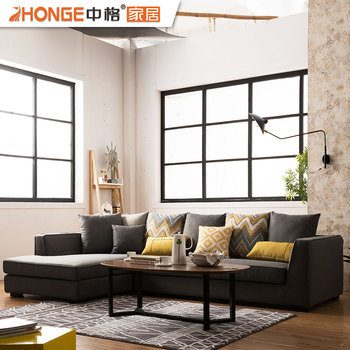 Drawing Room Modern Design Black Furniture Living Room Fabric L