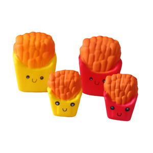 Wholesale 8cm Sweet Soft Scented Mini Squishy Slow Rising Cute French Fries Shape Stress-relieve Squishy Toys For Photography