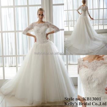 Long Sleeve Wedding Dress 2013-2014 New Beautiful Model Wedding Gown ...