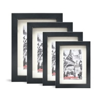 11x14 16x20in Home Simple Stylish Modern Wooden Black Photo Picture Frame