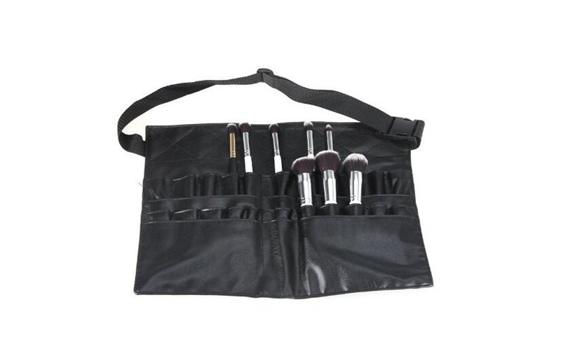 573e55297 PVC cosmética profesional cepillo del maquillaje delantal bolsa artista  Correa titular