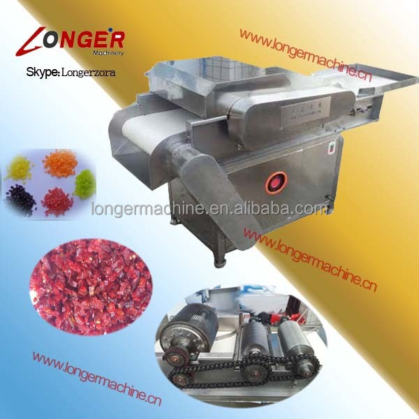 Preserved fruit cube cutter|candied fruit dicing machine