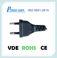 2 prong EU Replacement ac power cord