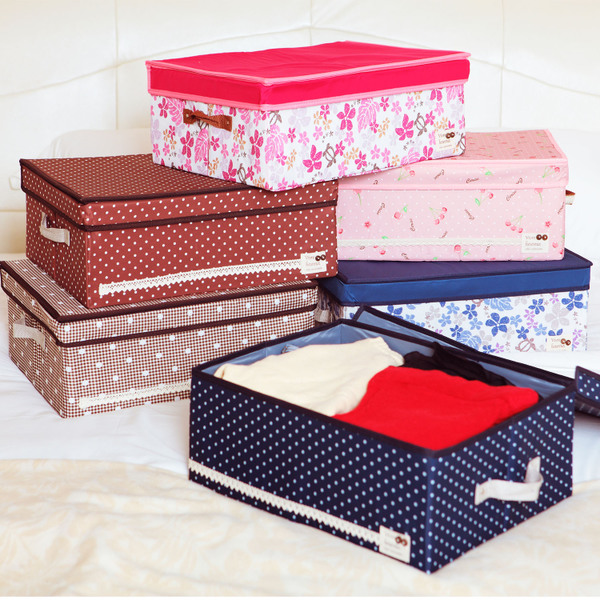 Canvas Storage Boxes For Wardrobes: Clothing Fabric Finishing Box Storage Box Wardrobe Storage