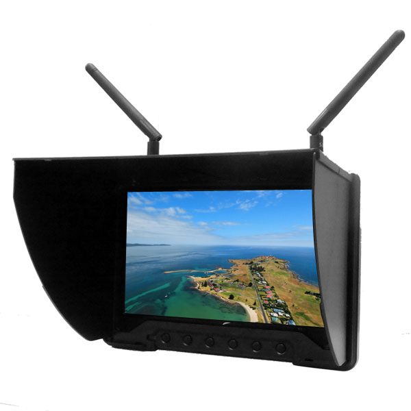 Low Cost 7 Inch Hdmi Diversity Anti Reflective Monitor For Aerial Filming Quadcopter