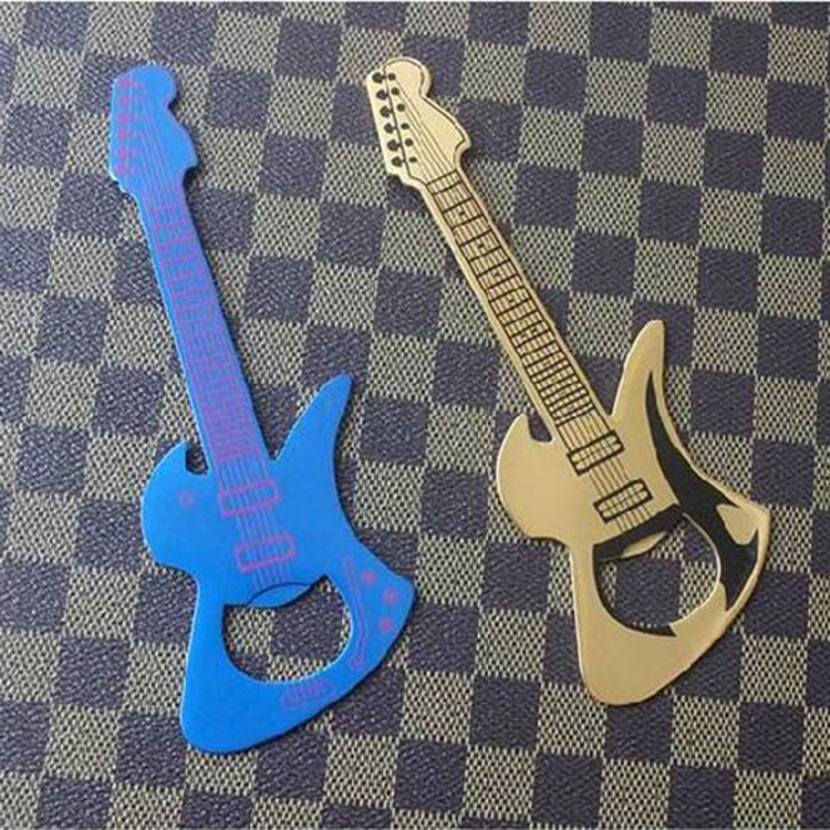 Guitar shape with painting color bottle opener