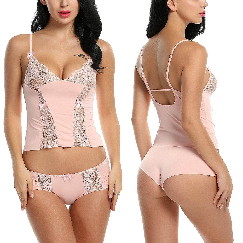 4d774c1fed00 Get Quotations · Avidlove Women Lace Lingerie Cami Short Set Boyshort Set  Mini Nightwear