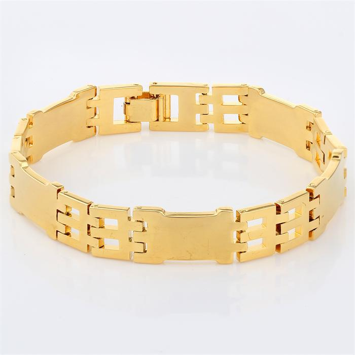 Get Quotations 18k Yellow Gold Plated Carved Chain Polish Plain Bangles Bracelets Fashion Unijewelry For Mens Womens 8 27
