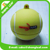 special tennis ball shape 3d custom Logo Soft pvc rubber usb flash drive