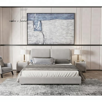 Modern Headboard Leather Storage Upholstered Super King Size Beds