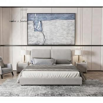 Modern Headboard Leather Storage Upholstered Super King Size Beds