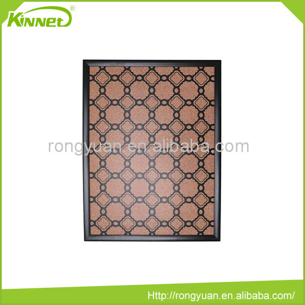 Wall decoration good quality mdf frame custom color message cork board