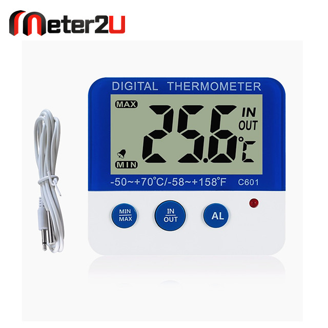 temperature and humidity max min digital alarm thermometer