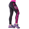 New arrive Women Running Tights 3D Star pattern print tight Black milk Cycling Sports Pants For