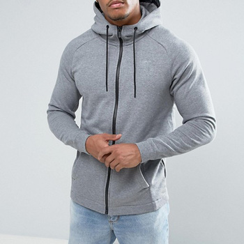 7dccbb4b0e0d1d high quality athletic slim fit cotton workout hoodie fitted mens Streetwear Hoodie  zip up custom mens