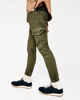 5b4779114e Casual para hombre Pantalones de tobillo banda pantalones carrot fit jeans