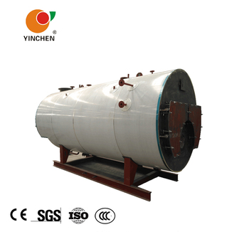 71a4e793c7 Heavy oil gas fuel horizontal 1 ton fire tube 3 return small China steam  boiler for