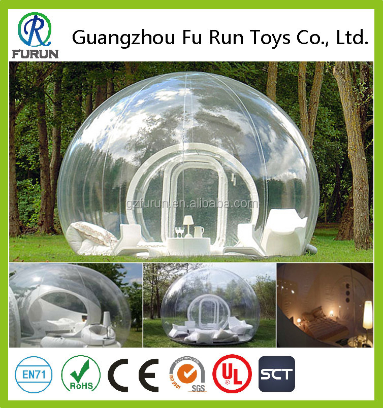 Outdoor single tunnel inflatable crystal bubble tent camping for rent