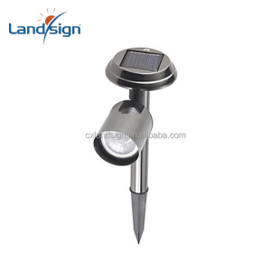 High quality home decor stainless steel solar outdoor landscape garden lawn lamp solar light parts