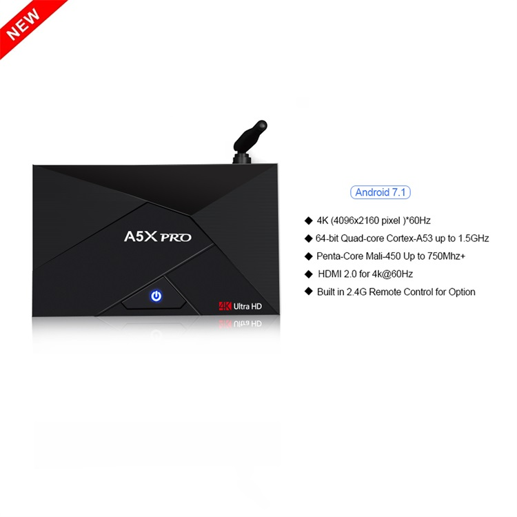 high speed usb 3.0 tv box android 7.1 a5x pro rk3328 download user manual for android mx tv box 4k supported