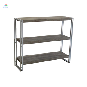 Corner storage wood display rack shelving unit