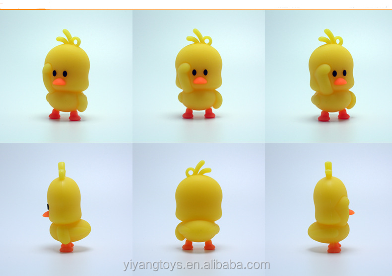 Web Celebrity Little Yellow Duck Dolls Creative Soft Plastic Key Chain Pendant Mixed Batch