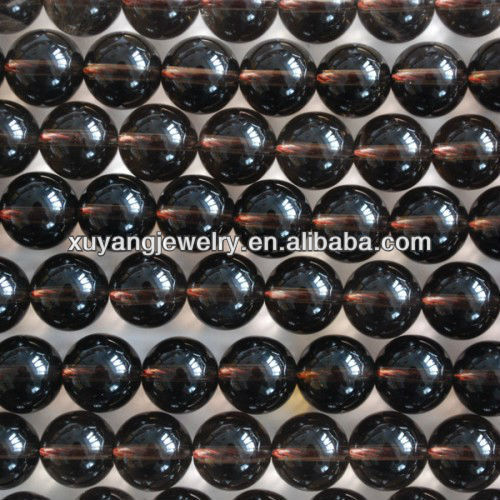 Natural smoky quartz round beads,wholesale paypal (AB1388)