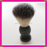 2015 yiwu China wholesale gray wood handle three color hard nylon hair shave brush and mug