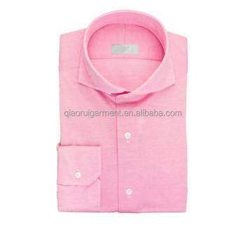 Wholesale Hot Sale Men S Long Sleeve Top Quality Cutaway Collar Pink