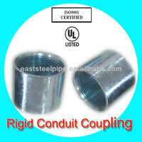 electrical galvanized ul6 steel rigid conduit coupling