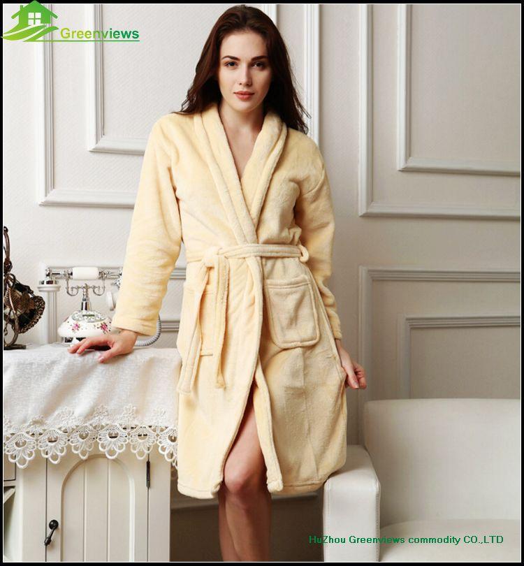 bc6ea559397d Sexy Ladies Robe fleece polyester coral fleece women night gown bathrobe  for women