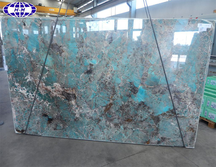 Hot sale green high polished amazonite granite slabs