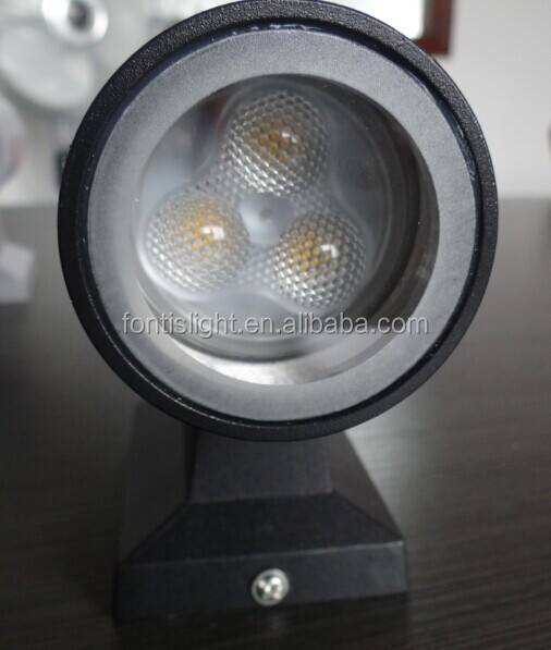 6w Led Wall Lights With Up/down Lighting Grey/black Housing/2700k ...