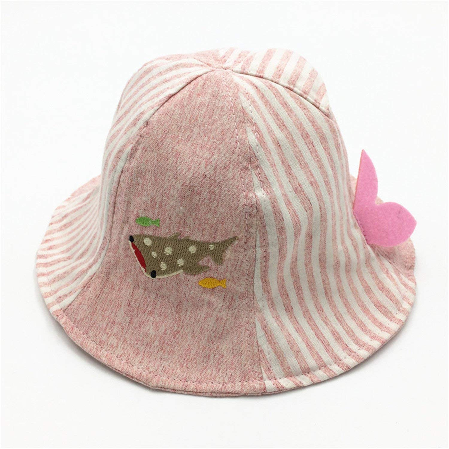 New Spring Summer Baby Girls Sun Hat Cotton Baby Hat Kids Boys Child Caps Alphabet Striped Baby Striped Fisherman Hat Outdoor