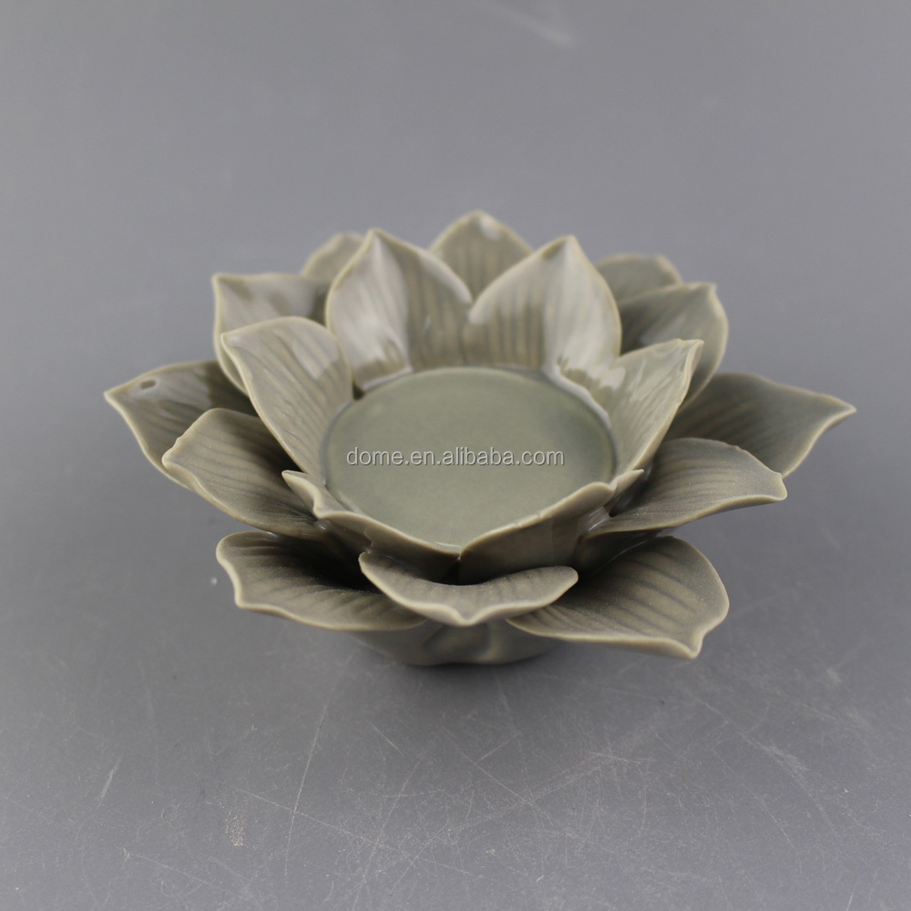 Porcelain Ceramic Lotus Flower Candle Holder Wholesale Buy Lotus