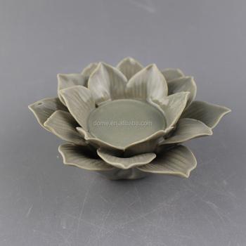 Porcelain ceramic lotus flower candle holder wholesale buy lotus porcelain ceramic lotus flower candle holder wholesale mightylinksfo