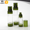 green coor different size 30ml plastic airless pump bottle
