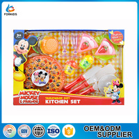 FUNNY TABLEWARE SUITE KITCHEN TOY PLAY SET WITH PIZZA AND HUMBURG FOOD TOY