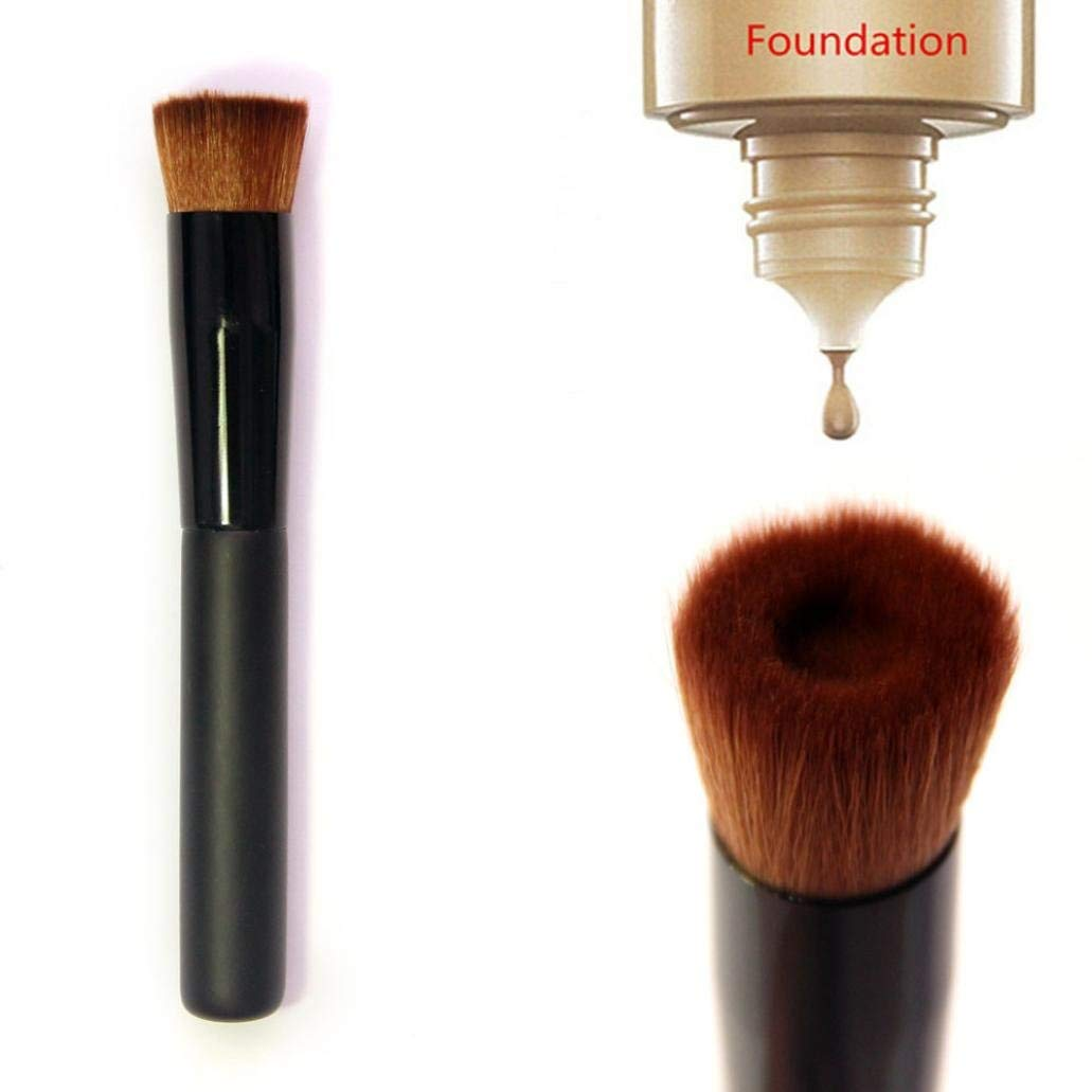 Expxon Groove type Foundation Brush,Professional Flat Contour Blusher Blush Brush Cream Liquid Concealer Powder Blush Makeup Puff Brush Tool