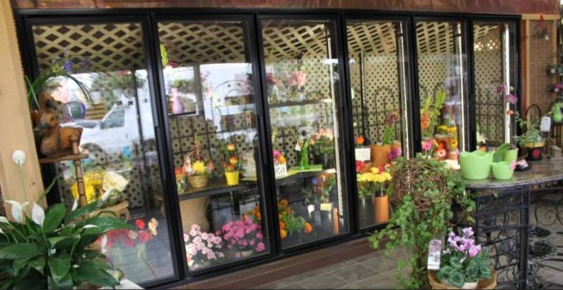 Flower Display Showcase Refrigerator Glass Door Small