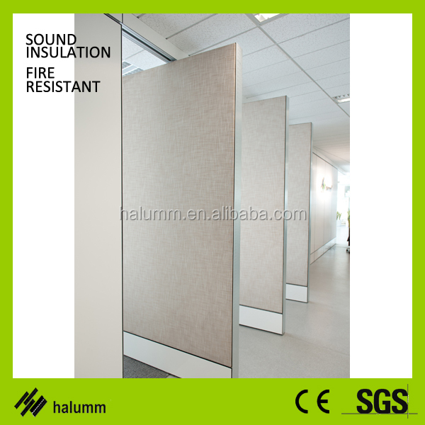 portable office walls wooden partition invisable frame partition