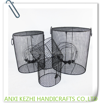 KZ8 06061Set Of 4 Metal Wire Mesh Laundry Basket Storage Basket