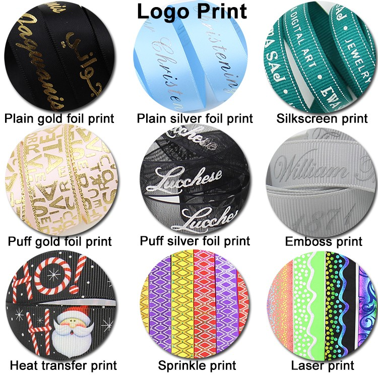 custom printed ribbon wholesale brand name printed ribbon
