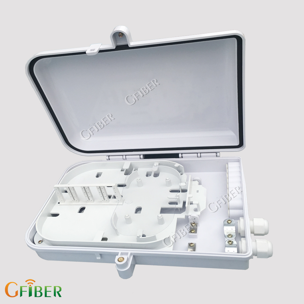 Gfiber fiber optic junction box with ftth clamp