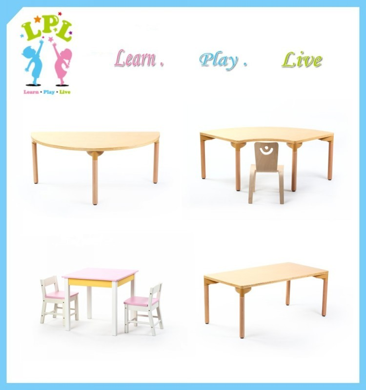 Hot Offer Preschool Wooden Furniture Two Sections School