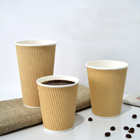 High quality paper coffee cup custom printed double wall insulated disposable paper cup