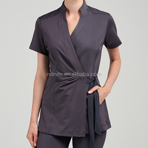 lightweight spa tops shirts clothes clothing apparel garment manufacture stretch fitness workwear spa uniform for women
