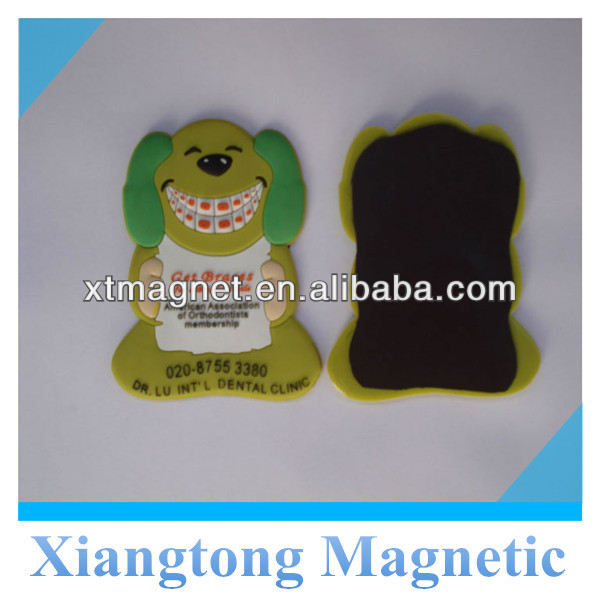 Promotional Advertising Happy Dog Soft PVC Fridge Magnet, Refrigerator Magnets