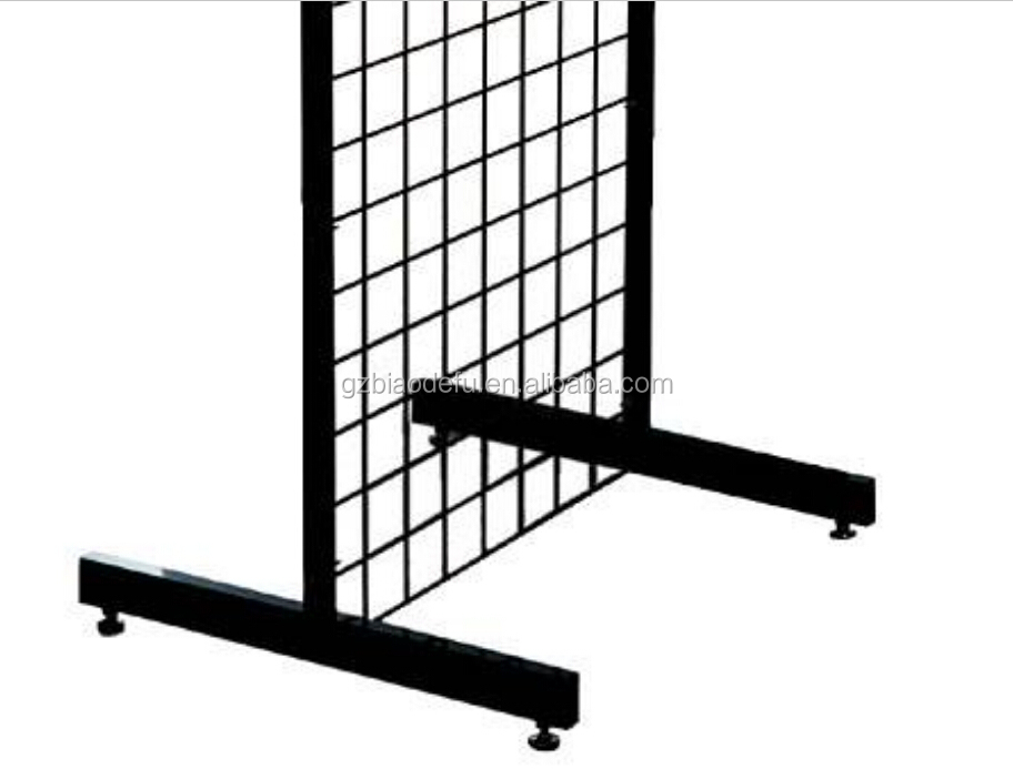 Metal Grid Wall metal grid leg with levellers,t leg for gridwall display stand